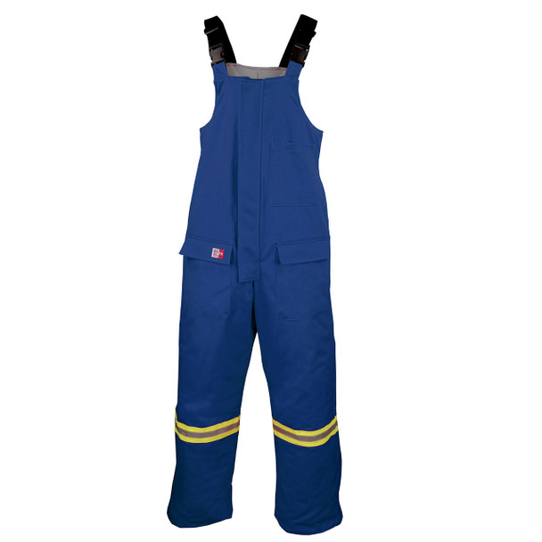 Big Bill FR Enhanced Visibility UltraSoft Cold Weather Bib Overalls M905US7 Royal Blue