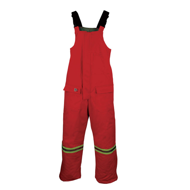 Big Bill FR Enhanced Visibility UltraSoft Cold Weather Bib Overalls M905US7 Red