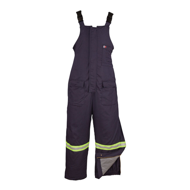 Big Bill FR Enhanced Visibility UltraSoft Cold Weather Bib Overalls M905US7 Navy
