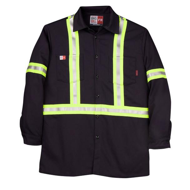 Big Bill FR Hi Vis X-Back Westex UltraSoft Work Shirt 235US7 Navy
