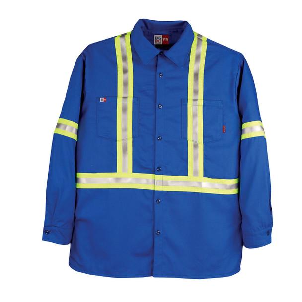Big Bill FR Hi Vis X-Back Westex UltraSoft Work Shirt 235US7 Royal Blue