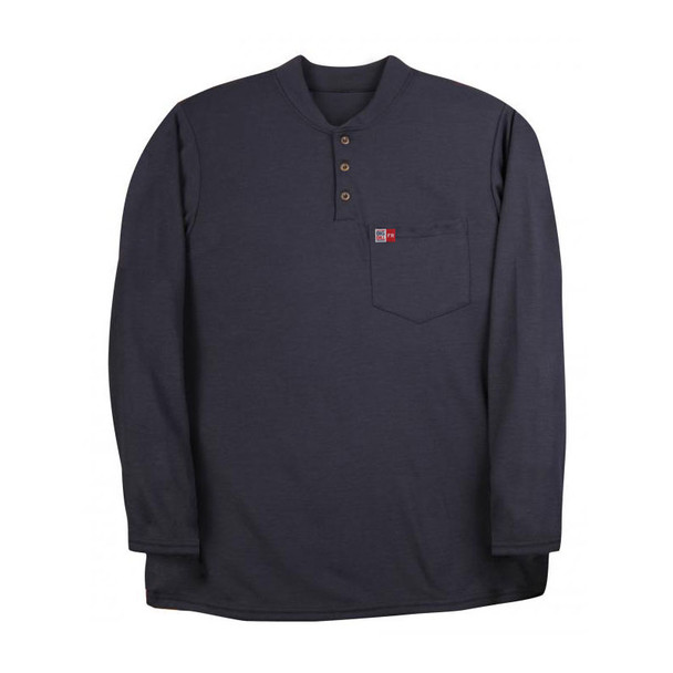 Big Bill FR 8 oz. Long Sleeve Henley DW18PD8 Navy