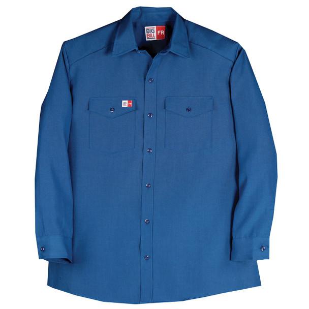 Big Bill FR 4.5 oz. Nomex Work Shirt TX290N4 Royal Blue