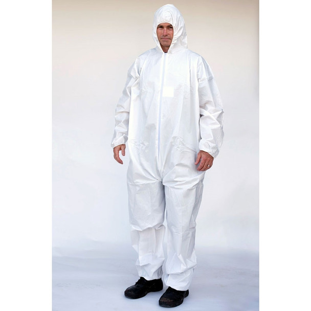 Sunrise Case of 25 Suntech Disposable Coverall Cool Suit with Hood CO127