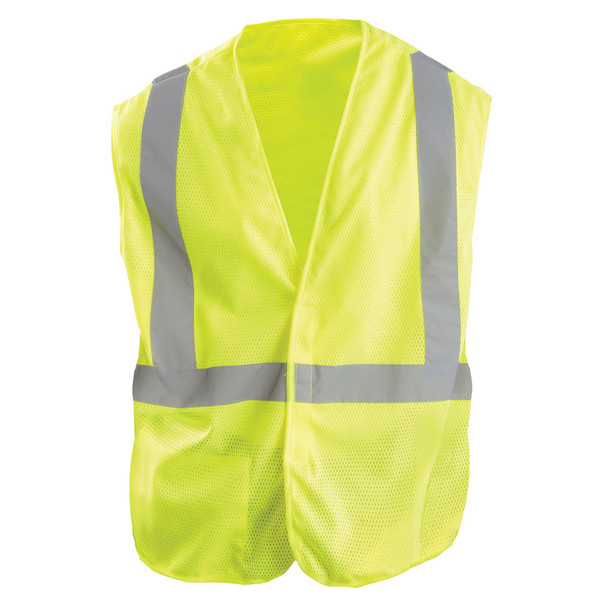 OK-1 Economy Lime Mesh Vest Class 2 Reflective OK-A1L