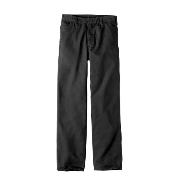 Carhartt Washed Duck Work Dungarees B11 Black Front