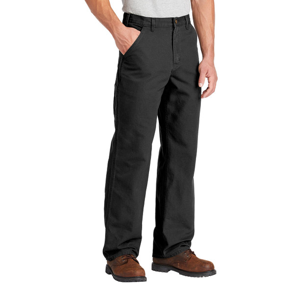 Carhartt Washed Duck Work Dungarees B11 Black In Use