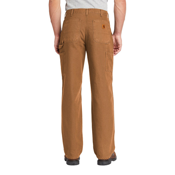 Carhartt Washed Duck Work Dungarees B11 Brown In Use Back