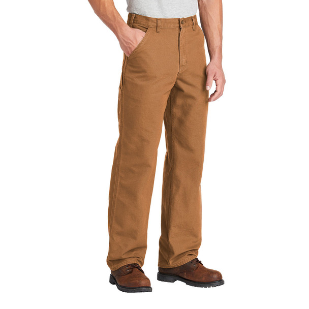 Carhartt Washed Duck Work Dungarees B11 Brown In Use