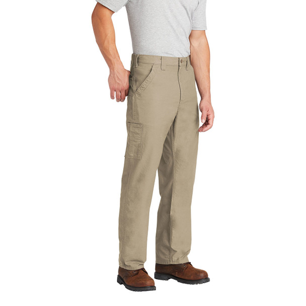 Carhartt Canvas Work Dungarees B151 In Use Left