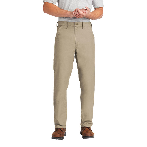 Carhartt Canvas Work Dungarees B151 In Use Front