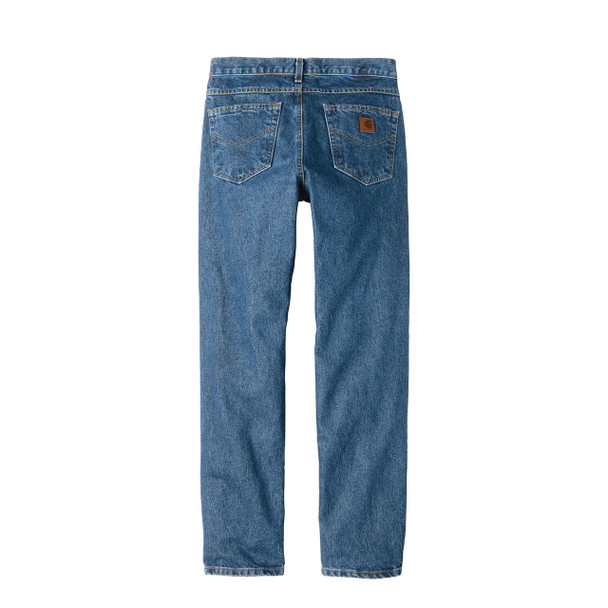 Carhartt Tapered Leg Jeans Relaxed Fit B17 Stonewash Back