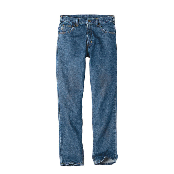 Carhartt Tapered Leg Jeans Relaxed Fit B17 Stonewash Front