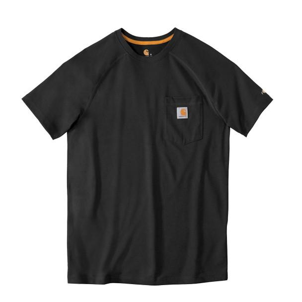 Carhartt FORCE Short Sleeve T-Shirt 100410 Black Front