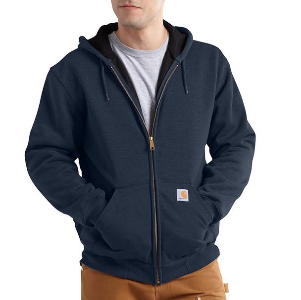 Carhartt Rain Defender Rutland Thermal Lined Zip Up Hooded Sweatshirt 100632 New Navy