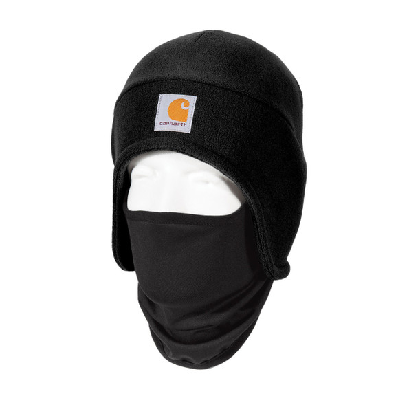 Carhartt 2 in 1 Cold Weather Hat CTA202 Black Left Side