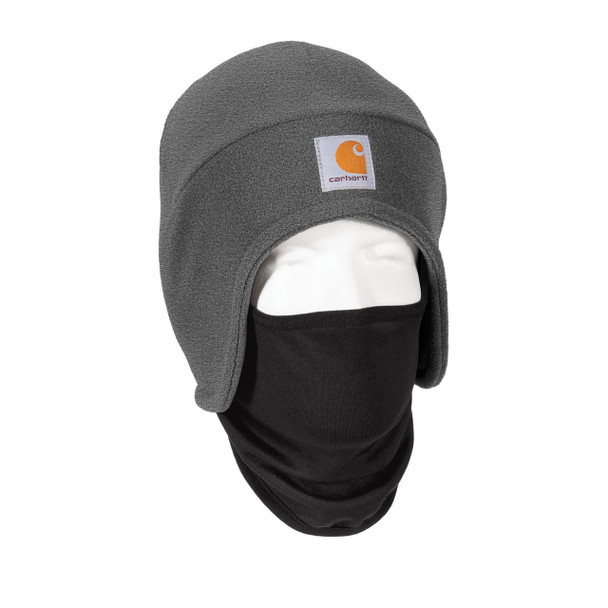 Carhartt 2 in 1 Cold Weather Hat CTA202 Charcoal Heather Right Side