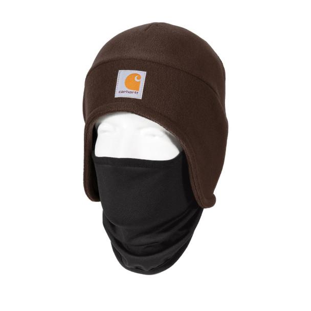Carhartt 2 in 1 Cold Weather Hat CTA202 Dark Brown Left Side