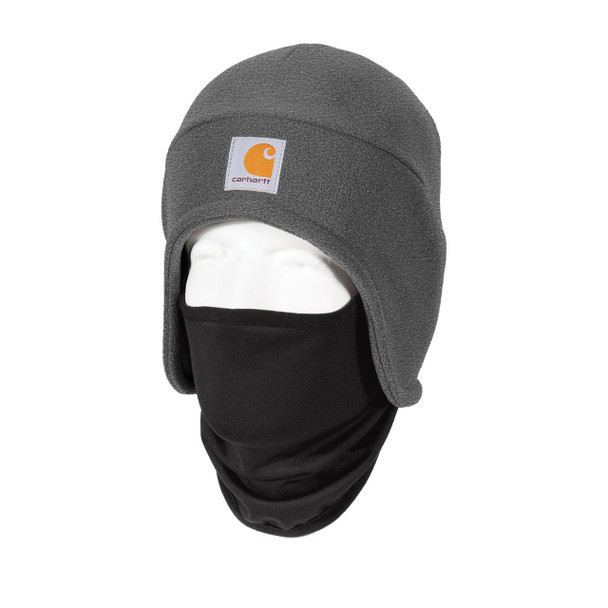 Carhartt 2 in 1 Cold Weather Hat CTA202 Charcoal Heather Left Side