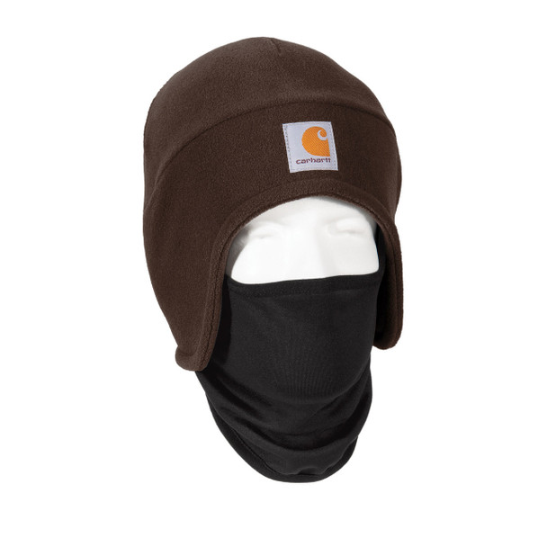 Carhartt 2 in 1 Cold Weather Hat CTA202 Dark Brown Right Side