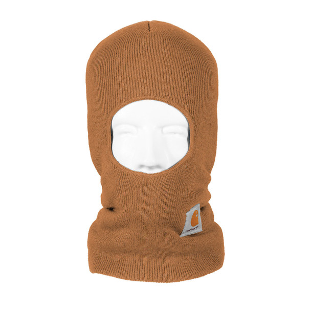 Carhartt Face Mask Cold Weather Headwear A161 Brown Front
