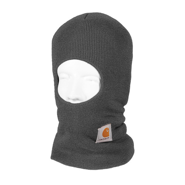 Carhartt Face Mask Cold Weather Headwear A161 Charcoal Heather Left Side