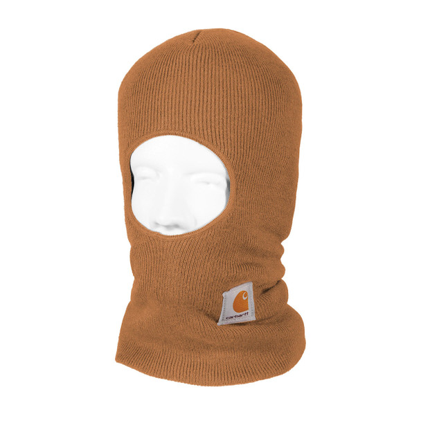 Carhartt Face Mask Cold Weather Headwear A161 Brown Left Side