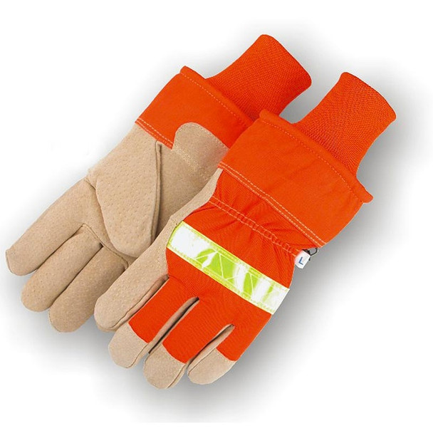 Majestic Case of 72 Pair Hi Vis Pig Skin Palm Lined Winter Gloves 1960-CASE