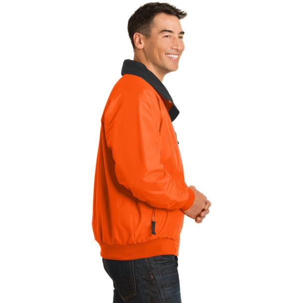 Port Authority Challenger Enhanced Visibility Jacket J754S Safety Orange Right Side
