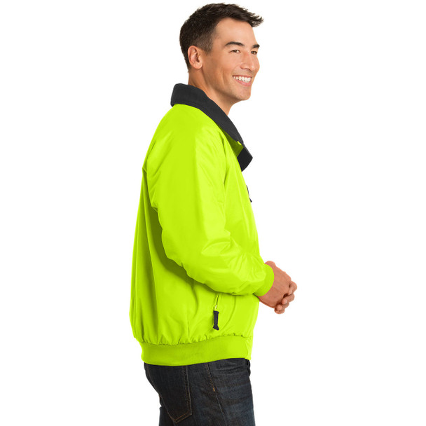 Port Authority Challenger Enhanced Visibility Jacket J754S Safety Yellow Right Side