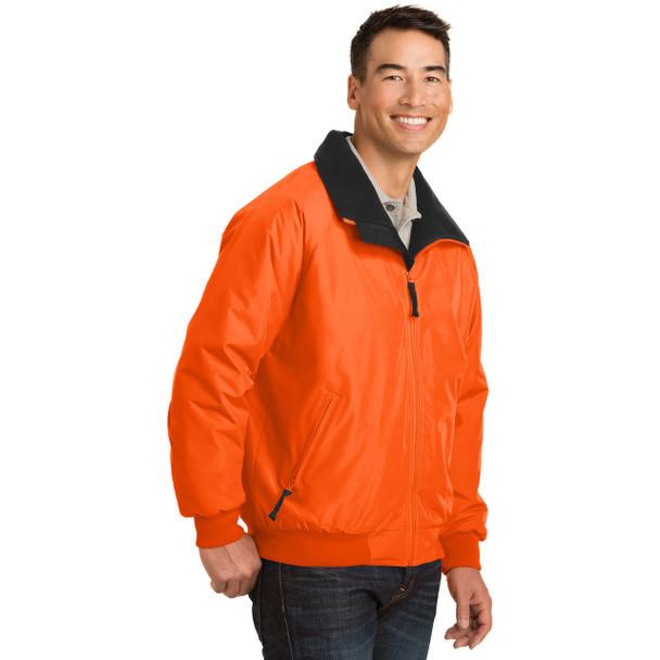 Port Authority Challenger Enhanced Visibility Jacket J754S Safety Orange Side