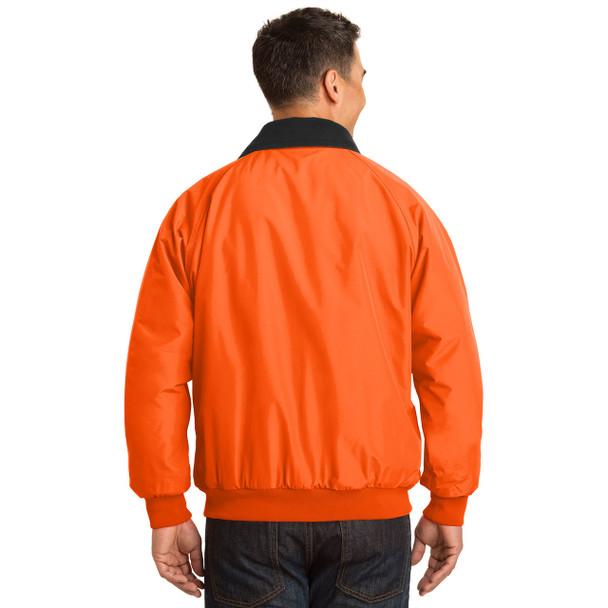 Port Authority Challenger Enhanced Visibility Jacket J754S Safety Orange Back
