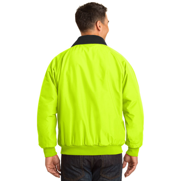 Port Authority Challenger Enhanced Visibility Jacket J754S Safety Yellow Back