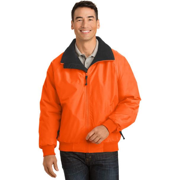 Port Authority Challenger Enhanced Visibility Jacket J754S Safety Orange Front