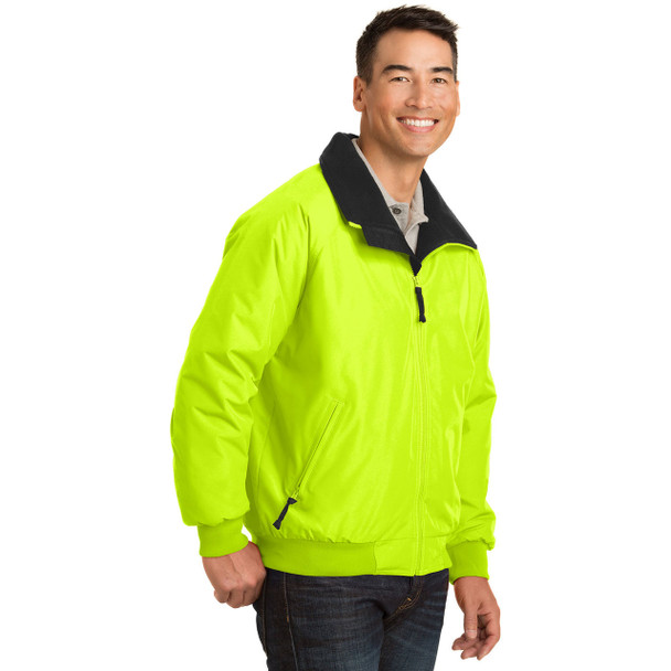 Port Authority Challenger Enhanced Visibility Jacket J754S Safety Yellow Side