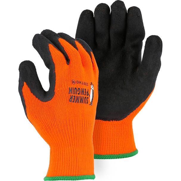 Majestic Box of 12 Pair Hi Vis Orange Penguin Gloves 3397HO