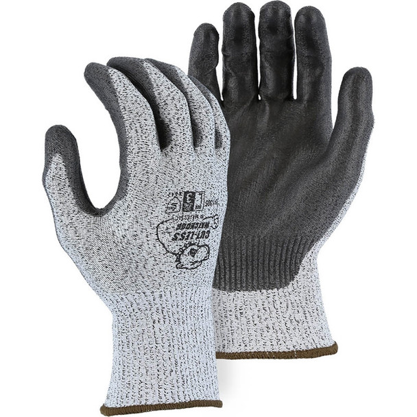 Majestic Box of 12 Pair Cut Level A2 Gray WatchDog Knit Gloves 35-1305