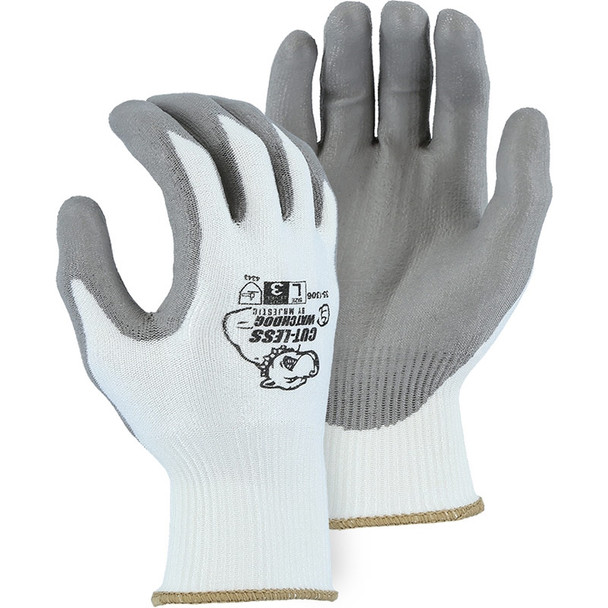 Majestic Box of 12 Pair A2 Cut Level Cut-Less Watchdog Seamless Knit Gloves Polyurethane 35-1306