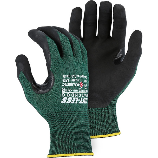 Majestic Box of 12 Pair A2 Cut-Less Watchdog Cut Gloves with Nitrile Palm 35-3365