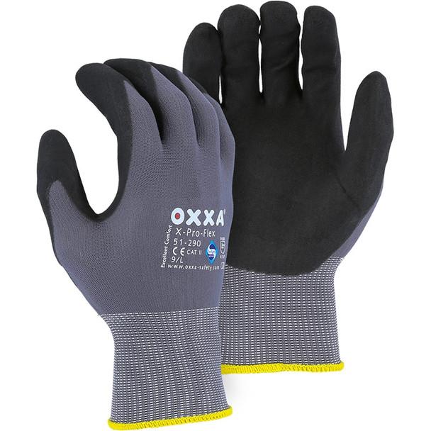 Majestic Box of 12 Pair OXXA Superior Micro Foam Nitrile Palm Gloves 51-290