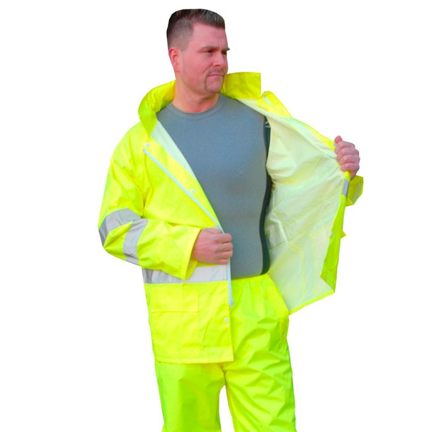 Majestic Class 3 Hi Vis Rain Jacket Yellow 75-1351