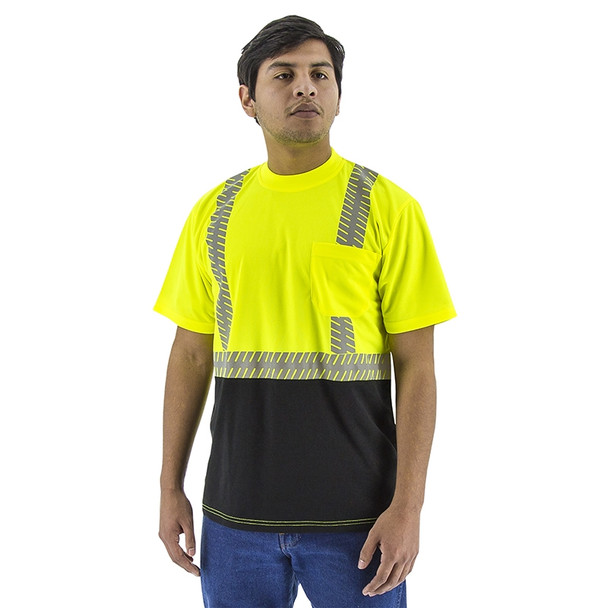 Majestic Class 2 Hi Vis Yellow T-Shirt with Chainsaw Reflective 75-5215