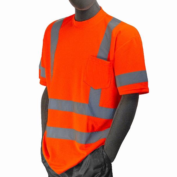 Majestic Class 3 Hi Vis Orange T Shirt with Chest Pocket 75-5306