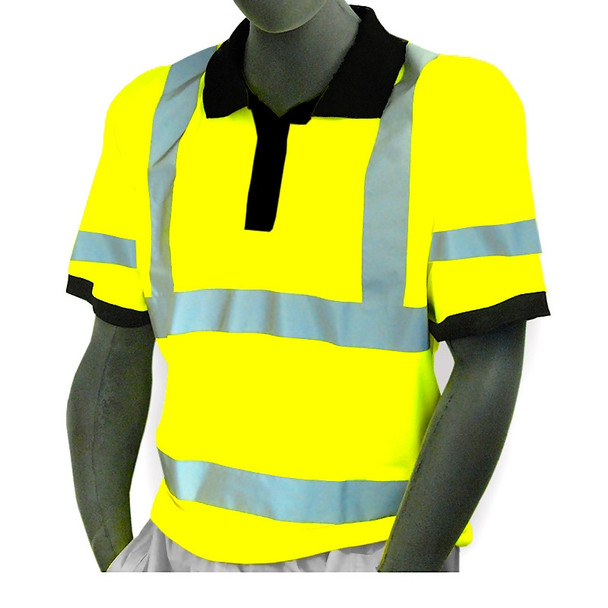 Majestic Class 3 Hi Vis Yellow Moisture Wicking Polo Shirt 75-5311