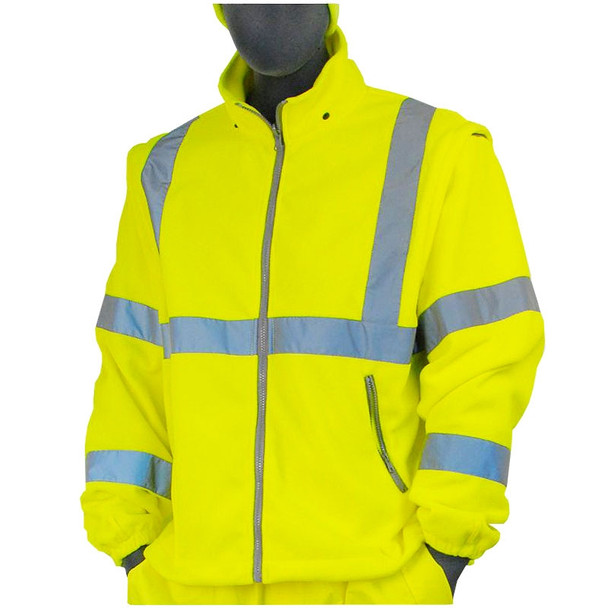 Majestic Class 3 Hi Vis Yellow Fleece Bomber Jacket Liner 75-5381