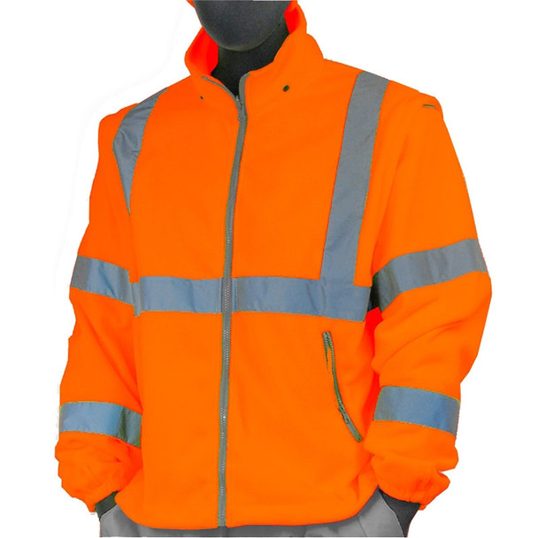 Majestic Class 3 Hi Vis Orange Fleece Bomber Jacket Liner 75-5382