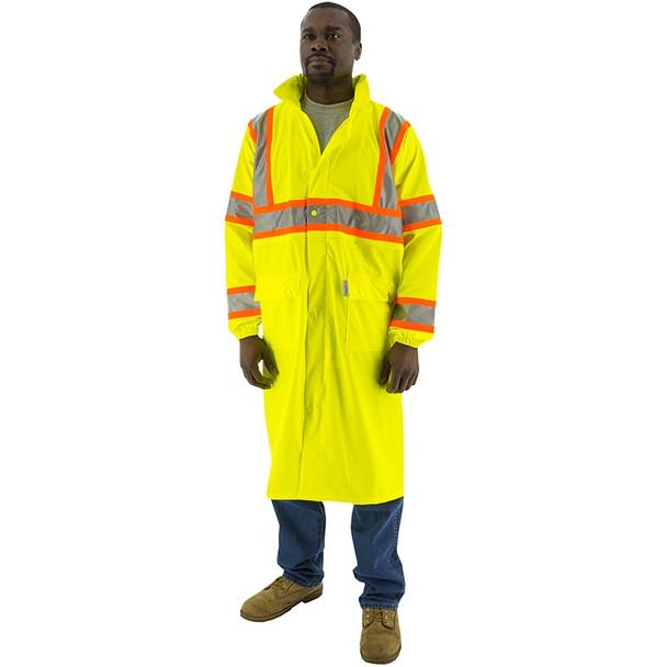 Majestic Class 3 Hi Vis Yellow DOT Raincoat 75-7303