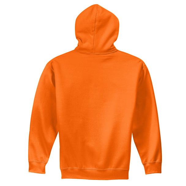 Gildan Enhanced Visibility Heavy Blend Pullover Hooded Sweatshirt 18500 Safety Orange Back