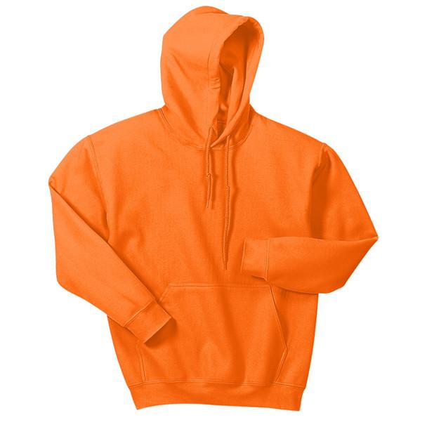 Gildan Enhanced Visibility Heavy Blend Pullover Hooded Sweatshirt 18500 Safety Orange Front