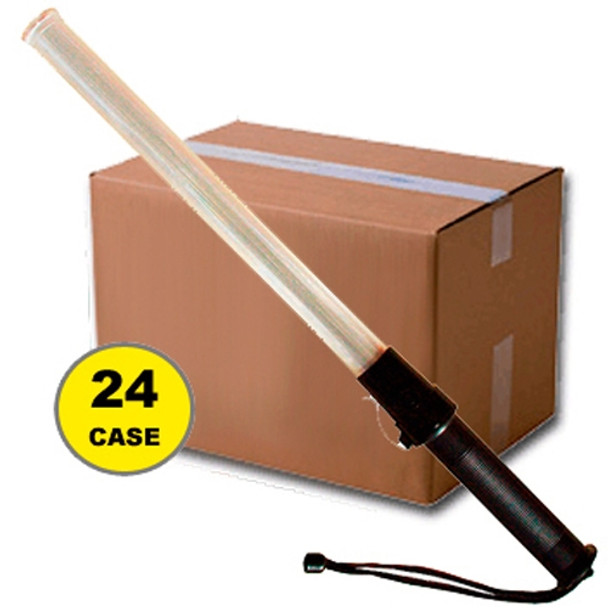 Case of 24 Multi Color 21 Inch Traffic Batons - 408RGB-CASE